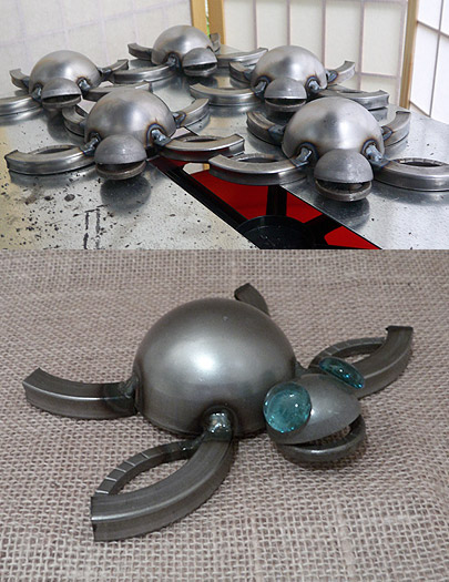 Metal Sea Turtle Sculpture