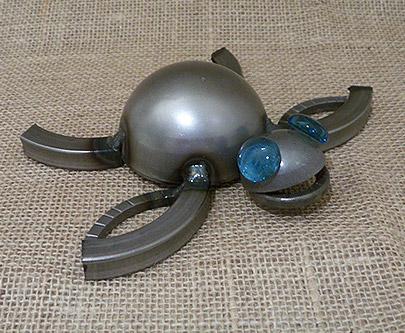 Metal Sea Turtle Sculpture